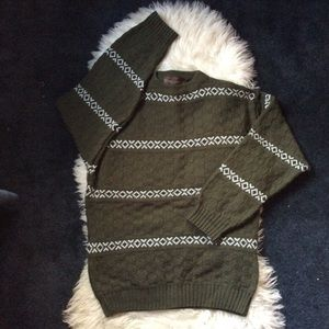 Vintage Italian forest green knit sweater unisex L